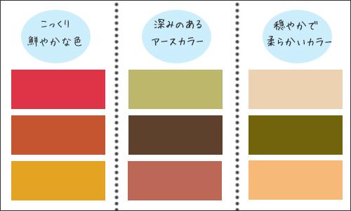 パーソナルカラーオータムに似合う色