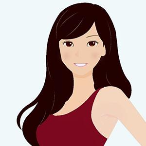 ディープウィンターに似合う髪色イメージ