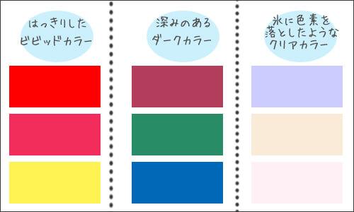 パーソナルカラーウィンターに似合う色のイメージ