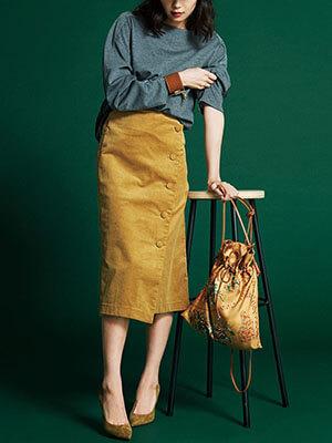 タイト&台形スカート