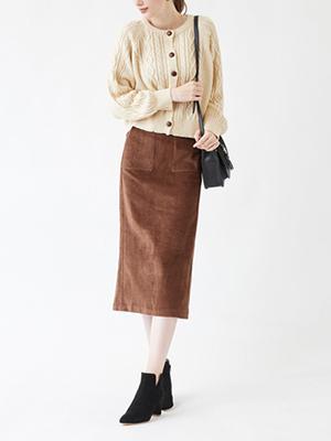 ナチュラルストレートスカート