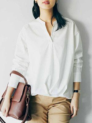 フェリシモ白シャツ