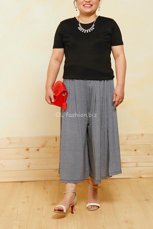 40代低身長ぽっちゃりファッション