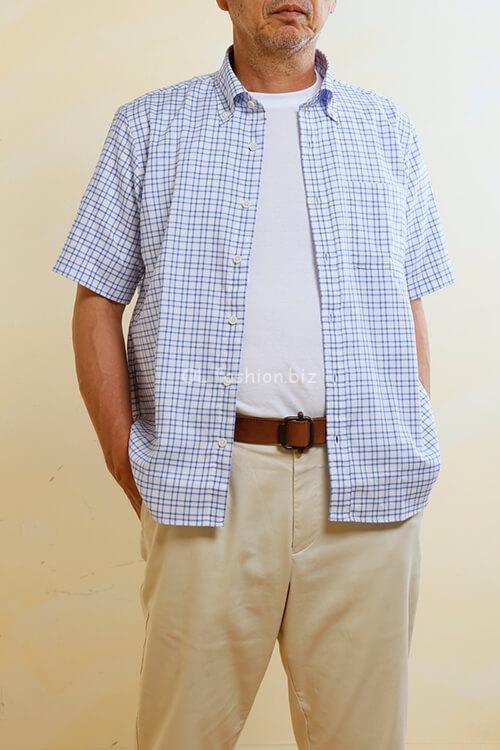 60代シャツ重ね着